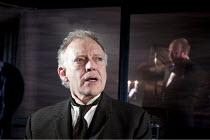 THE KREUTZER SONATA   by Tolstoy   adapted by Nancy Harris   design: Chloe Lamford   lighting: Mark Howland   director: Natalie Abrahami   l-r: Hilton McRae (Pozdynshev), Tobias Beer (Trukhachevski)...