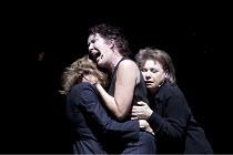 Roman Tragedies - ANTONY AND CLEOPATRA   by Shakespeare   director: Ivo van Hove ~l-r: Marieke Heebink (Charmian), Chris Nietvelt (Cleopatra), Frieda Pittoors (Iras)   ~Toneelgroep Amsterdam / bite09...