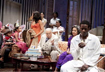 CAT ON A HOT TIN ROOF   by Tennesseee Williams   set design: Morgan Large   costumes: Fay Fullerton   lighting: David Holmes   director: Debbie Allen ~centre: James Earl Jones (Big Daddy)   right: Phy...