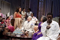 CAT ON A HOT TIN ROOF   by Tennesseee Williams   set design: Morgan Large   costumes: Fay Fullerton   lighting: David Holmes   director: Debbie Allen ~centre: Sanaa Lathan (Maggie), James Earl Jones (...