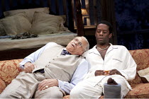 CAT ON A HOT TIN ROOF   by Tennesseee Williams   set design: Morgan Large   costumes: Fay Fullerton   lighting: David Holmes   director: Debbie Allen ~l-r: James Earl Jones (Big Daddy), Adrian Lester...