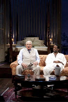 CAT ON A HOT TIN ROOF   by Tennesseee Williams   ~set design: Morgan Large   costumes: Fay Fullerton   lighting: David Holmes   director: Debbie Allen ~l-r: James Earl Jones (Big Daddy), Adrian Lester...
