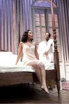 CAT ON A HOT TIN ROOF   by Tennesseee Williams   set design: Morgan Large   costumes: Fay Fullerton   lighting: David Holmes   director: Debbie Allen ~Sanaa Lathan (Maggie), Adrian Lester (Brick)    ~...
