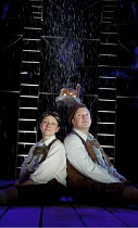HANSEL AND GRETEL   writer: Carl Grose   after the Brothers Grimm   design: Michael Vale   lighting: Mike Gunning   director: Mike Shepherd ~Joanna Holden (Gretel), Craig Johnson (Hansel)~a Kneehigh T...