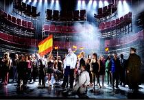 A MASKED BALL  Un ballo in maschera  by Verdi  conductor: Andrew Litton  set design: Alfons Flores  costumes: Merce Paloma  lighting: Nick Moran  director: Calixto Bieito   centre: John Daszak (Gusta...