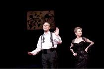 SIX DEGREES OF SEPARATION   by John Guare   design: Jonathan Fensom   lighting: Jason Taylor   director: David Grindley ~Anthony Head (Flan), Lesley Manville (Ouisa)~Old Vic Theatre (OV), London SE1...