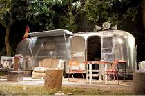 JERUSALEM   by Jez Butterworth   design: Ultz   lighting: Mimi Jordan Sherin   director: Ian Rickson   stage   set   caravan   props   trees transfer of July 2009 Royal Court production / Apollo The...