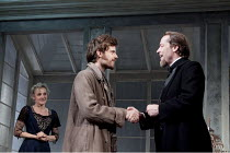 GHOSTS   by Ibsen   in a version by Frank McGuinness   design: Stephen Brimson Lewis   lighting: Oliver Fenwick   director: Iain Glen   l-r: Lesley Sharp (Mrs Alving), Harry Treadaway (Oswald Alving)...
