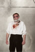 KING LEAR   by Shakespeare   design: Jon Bausor   lighting: Jon Clark   director: David Farr ~Geoffrey Freshwater (Earl of Gloucester)~Royal Shakespeare Company (RSC) / Courtyard Theatre, Stratford-up...