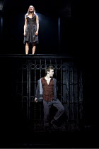 ROMEO AND JULIET   by Shakespeare   design: Tom Scutt   lighting: Howard Harrison   director: Rupert Goold ~balcony scene: Mariah Gale (Juliet), Sam Troughton (Romeo) ~Royal Shakespeare Company (RSC)...