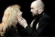 MACBETH   by Shakespeare   design: Nick Ormerod   lighting: Judith Greenwood   director: Declan Donnellan ~Anastasia Hille (Lady Macbeth), Will Keen (Macbeth) ~Cheek by Jowl / Silk Street Theatre, Bar...