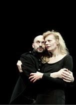 MACBETH   by Shakespeare   design: Nick Ormerod   lighting: Judith Greenwood   director: Declan Donnellan ~Will Keen (Macbeth), Anastasia Hille (Lady Macbeth) ~Cheek by Jowl / Silk Street Theatre, Bar...