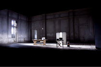 THE WHITE GUARD   by Mikhail Bulgakov   in a new version by Andrew Upton   design: Bunny Christie   lighting: Neil Austin   director: Howard Davies ~stage set empty props~Lyttelton Theatre / National...