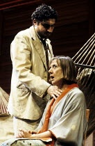 THE NIGHT OF THE IGUANA   by Tennessee Williams   design: Bob Crowley   lighting: Jean Kalman   director: Richard Eyre   Alfred Molina (The Reverend Shannon), Eileen Atkins (Hannah Jelkes)  Lyttelto...