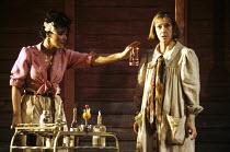 THE NIGHT OF THE IGUANA   by Tennessee Williams   design: Bob Crowley   lighting: Jean Kalman   director: Richard Eyre   l-r: Frances Barber (Maxine Faulk), Eileen Atkins (Hannah Jelkes)  Lyttelton...