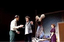 BEDROOM FARCE   by Alan Ayckbourn   set design: Simon Higlett   costumes: Mark Bouman & Mia Flodquist   lighting: Peter Mumford   director: Peter Hall   l-r: Daniel Betts (Malcolm), Orlando Seale (Tr...