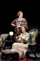SPRING STORM   by Tennessee Williams   design: Sara Perks   lighting: Chris Davey   director: Laurie Sansom ~(standing) Jacqueline King (Esmeralda Critchfield), (seated) Joanna Bacon (Aunt Lila)~Royal...