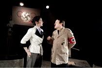 1936   by Tom McNab   design: Kevin Jenkins   lighting: Howard Hudson   director: Jenny Lee   Kate Cook (Leni Riefenstahl), Tim Frances (Adolf Hitler)  Arcola Theatre, London E8     07/04/2010