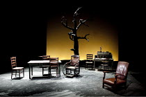BEYOND THE HORIZON   by Eugene O'Neill   design: Sara Perks   lighting: Chris Davey   director: Laurie Sansom ~stage   empty   set   props   tree~Royal & Derngate Northampton production / Cottesloe Th...