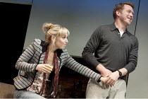 THE REAL THING   by Tom Stoppard   design: Lez Brotherston   lighting: Hugh Vanstone  director: Anna Mackmin ~Hattie Morahan (Annie), Barnaby Kay (Max)~Old Vic Theatre, London SE1...