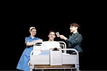 CANARY   by Jonathan Harvey   design: Liz Ashcroft   lighting: Colin Grenfall   director: Hettie Macdonald ~l-r: Jodie McNee (Nurse), Ben Allen (Mickey), Ryan Sampson (Younger Russell)~Liverpool Playh...