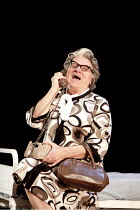 CANARY   by Jonathan Harvey   design: Liz Ashcroft   lighting: Colin Grenfall   director: Hettie Macdonald ~Philip Voss (Mary Whitehouse)~Liverpool Playhouse, Liverpool   England...
