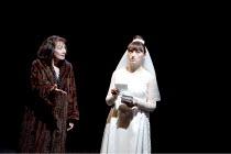 CANARY   by Jonathan Harvey   design: Liz Ashcroft   lighting: Colin Grenfall   director: Hettie Macdonald ~l-r: Paula Wilcox (Ellie), Jodie McNee (Younger Ellie)~Liverpool Playhouse, Liverpool   Engl...