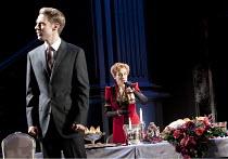 WOMEN BEWARE WOMEN   by Thomas Middleton   design: Lez Brotherston   lighting: Neil Austin   director: Marianne Elliott ~Samuel Barnett (Leantio), Harriet Walter (Livia)~Olivier Theatre / National The...