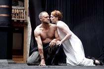 MACBETH   by Shakespeare   design: Katrina Lindsay   director: Lucy Bailey ~Elliot Cowan (Macbeth), Laura Rogers (Lady Macbeth)~Shakespeare's Globe (SG), London SE1  29/04/2010~(c) Donald Cooper/Photo...