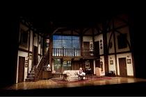 NOISES OFF   by Michael Frayn   design: Paul Farnsworth   lighting: Jason Taylor   director: Ian Talbot ~stage   set   interior   house~Birmingham Repertory Theatre (BRT) / Birmingham, England    18/0...