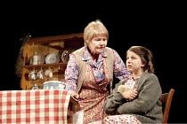 FAR AWAY   by Caryl Churchill   design: Lizzie Clachan   lighting: James Farncombe   director: Simon Godwin ~~l-r: Annette Badland (Harper), Eleanor Bailey (Young Joan) ~Bristol Old Vic (BOV) / Bristo...