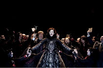 MARIA STUARDA (MARY STUART)   by Donizetti   conductor: Guido Rumstadt   lighting: Lucy Carter   design & direction: Antony McDonald ~~centre: Sarah Connolly (Mary Stuart) with (behind, to her right,...