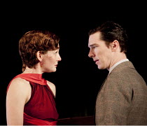 AFTER THE DANCE   by Terence Rattigan   design: Hildegard Bechtler   lighting: Mark Henderson   director: Thea Sharrock ~~Nancy Carroll (Joan Scott-Fowler), Benedict Cumberbatch (David Scott-Fowler) ~...