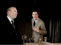 AFTER THE DANCE   by Terence Rattigan   design: Hildegard Bechtler   lighting: Mark Henderson   director: Thea Sharrock ~l-r: Adrian Scarborough (John Reid), Benedict Cumberbatch (David Scott-Fowler)...