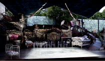 A MIDSUMMER NIGHT'S DREAM   by Benjamin Britten   after Shakespeare   conductor: Steuart Bedford   design: Francis O'Connor   lighting: Bruno Poet   director: Daniel Slater ~set   stage   empty   prop...