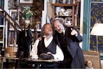 DIE MEISTERSINGER VON NURNBERG   by Wagner   conductor: Lothar Koenigs   set design: Paul Steinberg   costumes: Buki Shiff   lighting: Mimi Jordan Sherin   director: Richard Jones ~l-r: Bryn Terfel (H...
