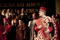 SIMON BOCCANEGRA   by Verdi   conductor: Antonio Pappano   set design: Michael Yeargan   costumes: Peter J Hall   director: Elijah Moshinsky ~right: Placido Domingo (Simon Boccanegra)~The Royal Opera...