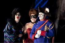 DON GIOVANNI   by Mozart   conductor: Vladimir Jurowski   design: Paul Brown   lighting: Mark Henderson   director: Jonathan Kent  ~l-r: Kate Royal (Donna Elvira), Anna Samuil (Donna Anna), William Bu...