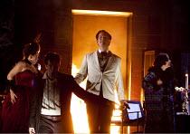 DON GIOVANNI   by Mozart   conductor: Vladimir Jurowski   design: Paul Brown   lighting: Mark Henderson   director: Jonathan Kent  ~end of Act 1 - l-r: Anna Samuil (Donna Anna), Luca Pisaroni (Leporel...