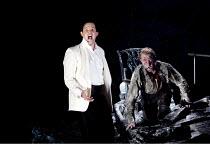 DON GIOVANNI   by Mozart   conductor: Vladimir Jurowski   design: Paul Brown   lighting: Mark Henderson   director: Jonathan Kent  ~final scene - l-r: Gerald Finley (Don Giovanni),  Alastair Miles (Co...