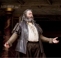 HENRY IV part i   by Shakespeare   design: Jonathan Fensom   director: Dominic Dromgoole ~Roger Allam (Sir John Falstaff)~Shakespeare's Globe (SG), London SE1         14/07/2010