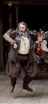 HENRY IV part i  by Shakespeare  design: Jonathan Fensom  director: Dominic Dromgoole   Roger Allam (Sir John Falstaff) Shakespeare's Globe (SG), London SE1  14/07/2010 (c) Donald Cooper/Photostage...