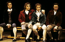 DANTON'S DEATH   by Georg Buchner   in a new version by Howard Brenton   design: Alison Chitty   lighting: Stephen Wentworth   director: Peter Gill ~l-r: Anthony Higgins (Camille Desmoulins), Brian Co...