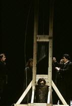 DANTON'S DEATH   by Georg Buchner   in a new version by Howard Brenton   design: Alison Chitty   lighting: Stephen Wentworth   director: Peter Gill   Danton's execution: Brian Cox (Danton)  Olivier...
