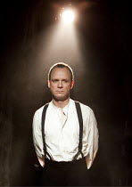 LIGHT SHINING IN BUCKINGHAMSHIRE   by Caryl Churchill   design: Hannah Clark   lighting: Matthew Pitman   director: Polly Findlay ~Jamie Ballard (Rainsborough)~Arcola Theatre, London E8...