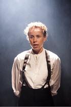 LIGHT SHINING IN BUCKINGHAMSHIRE   by Caryl Churchill   design: Hannah Clark   lighting: Matthew Pitman   director: Polly Findlay ~Michelle Terry (Ireton)~Arcola Theatre, London E8...