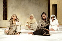 THE HOUSE OF BILQUIS BIBI   by Sudha Bhuchar   adapted from Lorca's 'The House of Bernarda Alba'   design: Sue Mayes   lighting: Natasha Chivers   director: Kristine Landon-Smith ~l-r: Ila Arun (Bilqu...