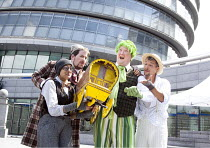 TOAD HALL !   adapted from Kenneth Grahame's 'The Wind in the Willows'   director: Phil Wilmott    l-r: Taj Atwal (Mole), Paddy Crawley (Bedger), Paul Critoph (Toad), George Couyas (Rat) Steam Indus...