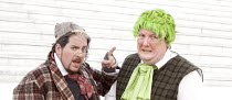 TOAD HALL !   adapted from Kenneth Grahame's 'The Wind in the Willows'   director: Phil Wilmott   l-r: Paddy Crawley (Bedger), Paul Critoph (Toad)  Steam Industry Free Theatre / The Scoop at More Lo...