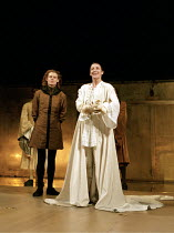RICHARD II   by Shakespeare   design: Hildegard Bechtler   lighting: Peter Mumford   director: Deborah Warner ~l-r: Julian Rhind-Tutt (Edward, Duke of Aumerle), Fiona Shaw (Richard II)   ~Cottesloe Th...